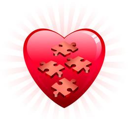 Incomplete Heart Puzle