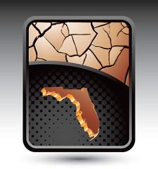 florida state bronze cracked backdrop