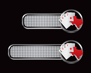 texas hold em silver checkered banners