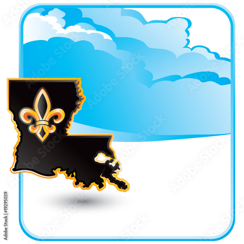louisiana state cloud backdrop