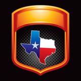 texas lonestar state orange display poster