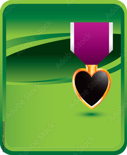 military medal green background