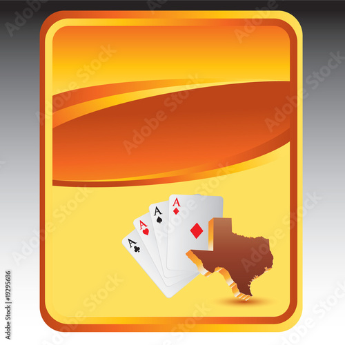 texas hold em orange background