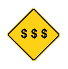 road sign - dollars