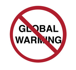 sign - no global warming