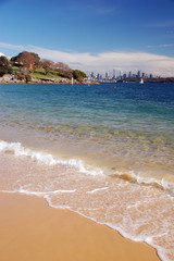 Sydney beachfront from Lady Bay