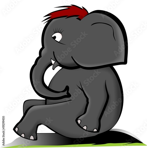 Illustration of a cartoon elephant