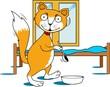 Illustration of a cartoon fox