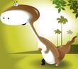 Illustration of a cartoon dinosaur
