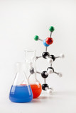 Molecular Chain and Vials witch liquid poster