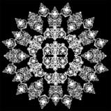 white openwork snowflake poster