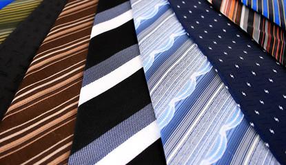 Close up of ties