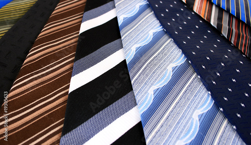 Close up of ties