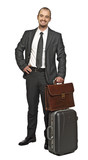 young business man travel