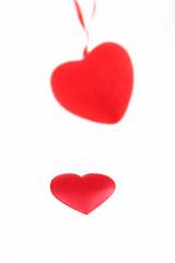 Silk heart against a suspension bracket