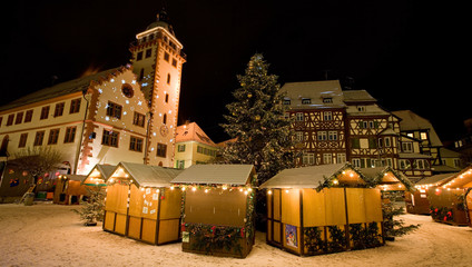 Mosbach weihnachtlich geschmückt