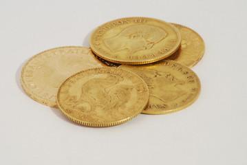5 pièces d'or francaises napoléon