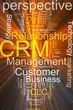 CRM word cloud glowing