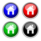 home, house colored icon