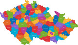 Map of administrative divisions of the Czech Republic poster