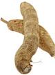 tubercules manioc fond blanc
