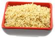 bol riz complet fond blanc