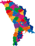 Map of administrative divisions of Republic of Moldova poster