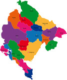 Map of administrative divisions of Montenegro poster