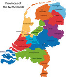 Map of administrative divisions of Netherlands poster