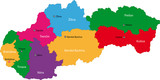 Map of administrative divisions of Slovakia poster