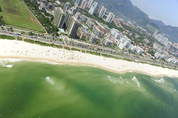 "Aerial view of ""Barra da Tijuca"" beach in the ""Rio de Janeiro"","