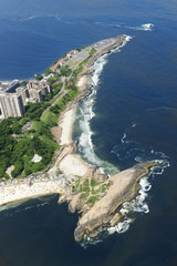 Aerial view Ipanema Copacabana Praia do Arpoador Praia do Diabo