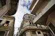Havana street with eroded building