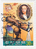 Sir Isaac Newton - great English physicist poster