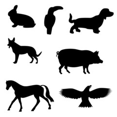 black animal & pet shapes