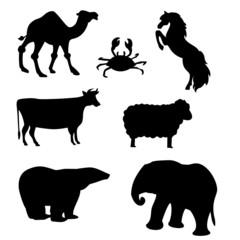 black animal shapes