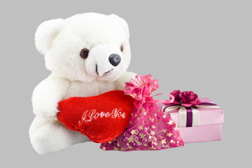 Toy bear and gift