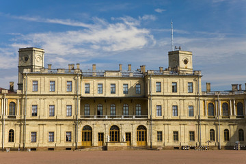 Russia,Gatchina, parade-ground before palace..