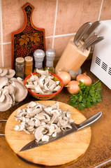 Cooking from mushrooms.