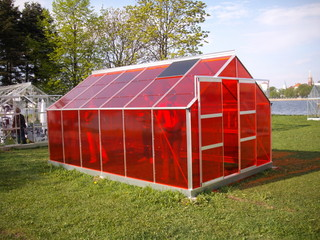 Red greenhouse