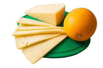 Cheese and orange.