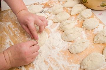 Preparation of pies.