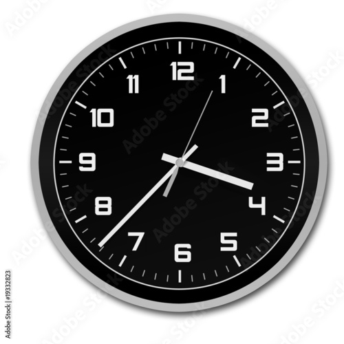 Stylish and modern black and white clock