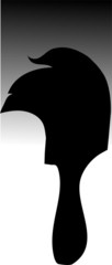 Illustration of silhouette of a paint brush