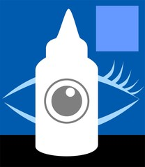 Illustration of a eye drop medicine