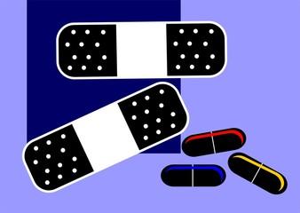 Illustration of medicinal bandage