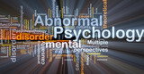 Abnormal psychology background concept glowing poster