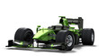 race car on white - black & green