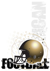 american football circle poster background 3
