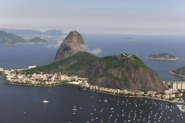 Aerial view of Sugar Loaf in Rio de Janeiro